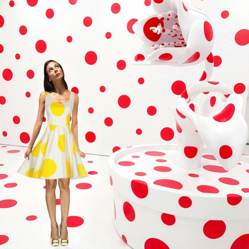Avec tout mon amour pour le pois (Yayoi Kusama - With All My Love for the Tulips, I Pray Forever - 2011)
