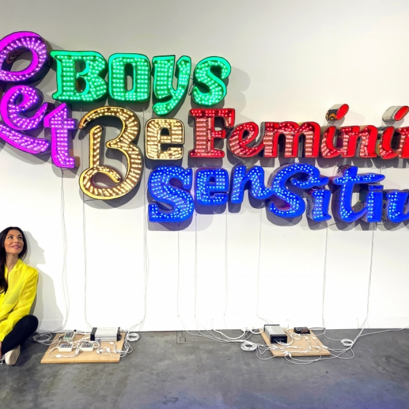 Tender gender (Andrea Bowers - Let Boys Be Feminine/Sensitive, 2019)