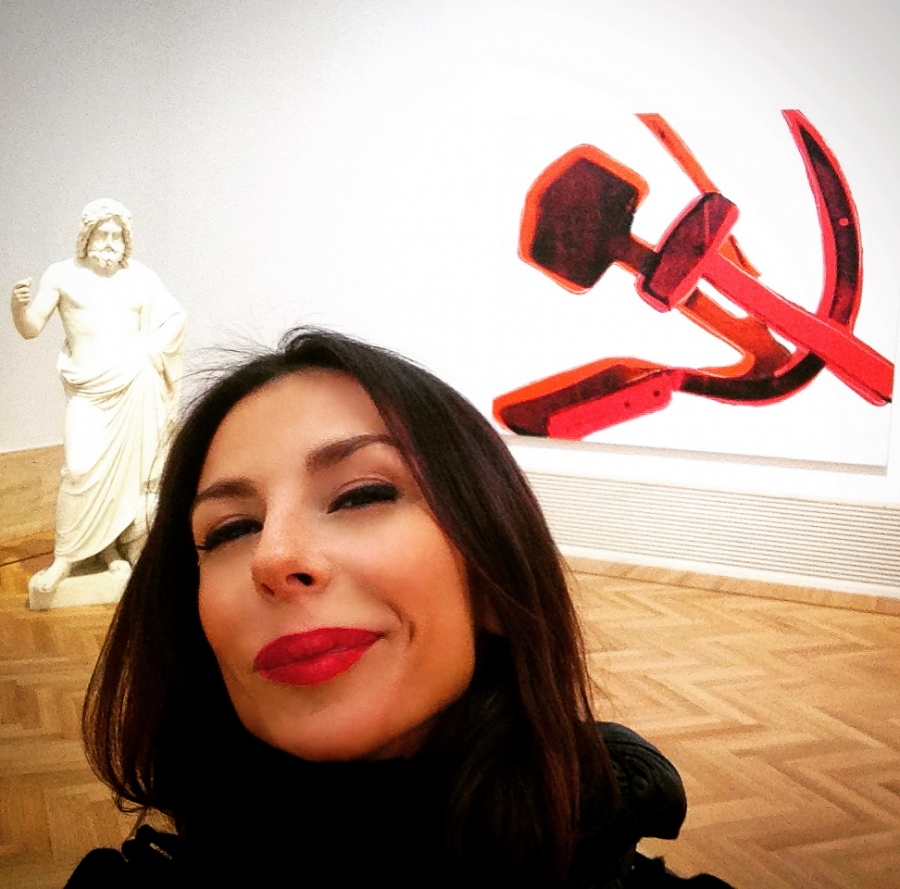 Socialismo e barba (Pietro Galli, Giove vs. Warhol, Hammer and Sickle)