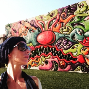 Facing the faces on the face (Art by Kenny Scharf)