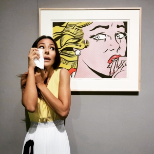 Pianto un quadro (Roy Lichtenstein - Crying Girl, 1963)