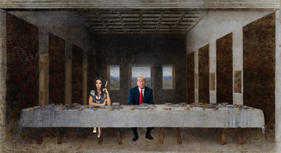 Trump l'oeil (Max Papeschi - Verily, verily, I say unto you that one of you shall betray me)