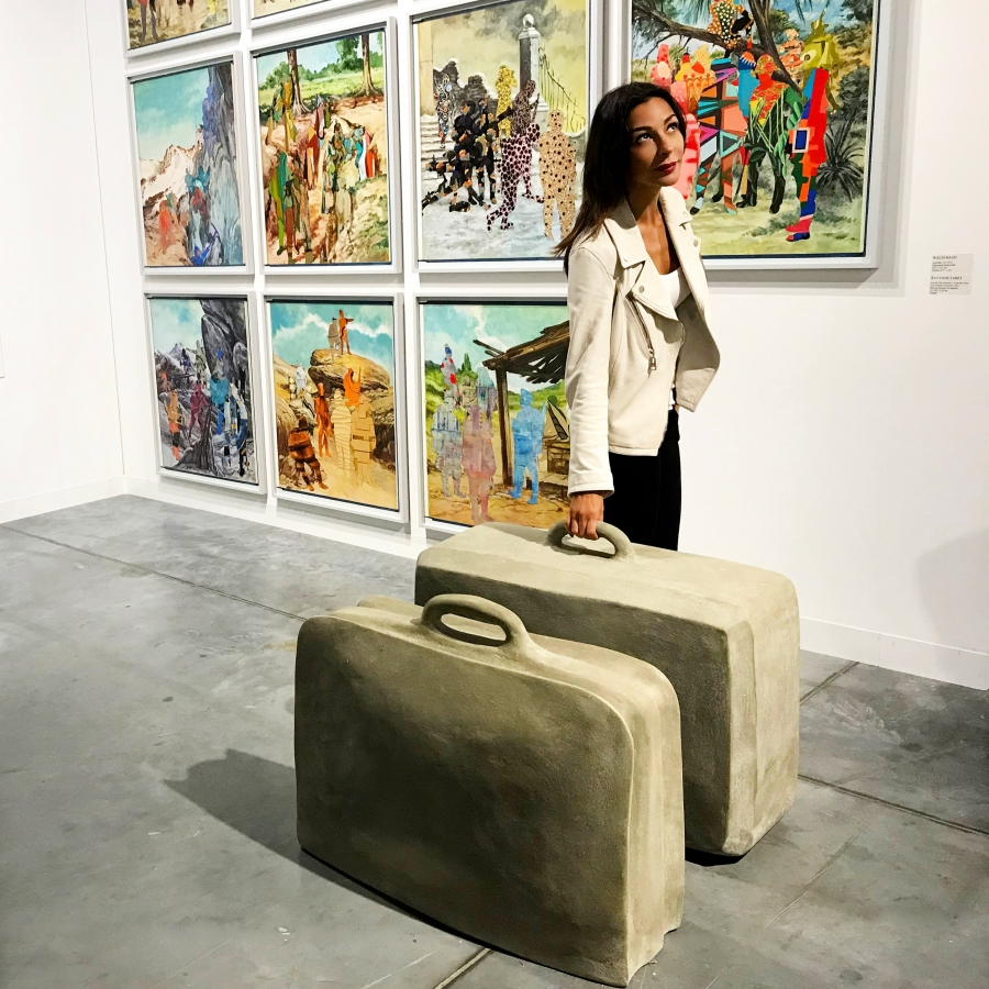 """Check in costosissimo"" (RayyanTabet - Fossils, the suitcase, 2015)"
